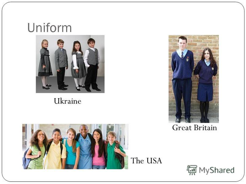 Uniform Ukraine Great Britain The USA