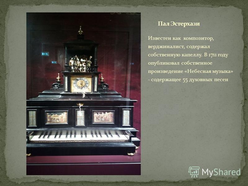 Известен как композитор, верджиналист, содержал собственную капеллу. В 1711 году опубликовал собственное произведение «Небесная музыка» - содержащее 55 духовных песен