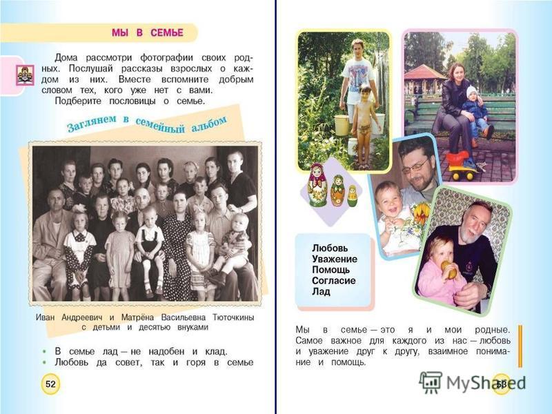 15 Моя семья – мой мир На примере учебника А.А. Плешакова, М.Ю. Новицкой «Окружающий мир»