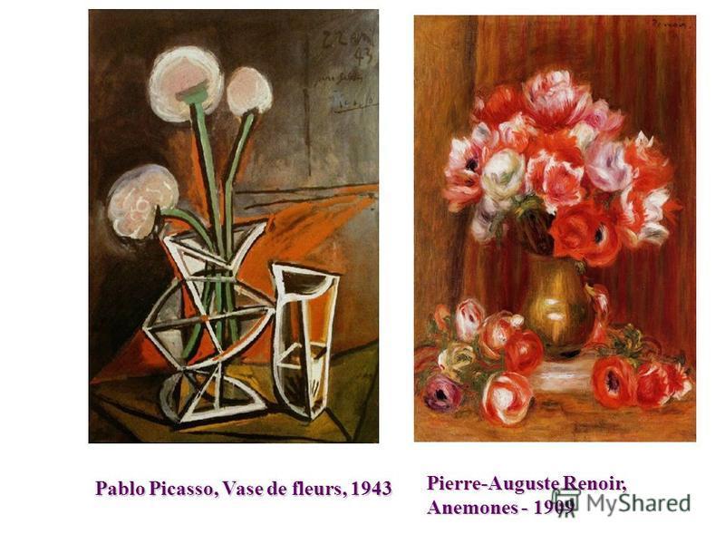 Pablo Picasso, Vase de fleurs,1943 Pablo Picasso, Vase de fleurs, 1943 Pierre-Auguste Renoir, Anemones - 1909