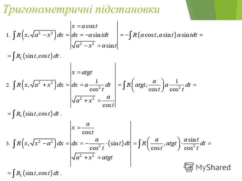 Тригонометричні підстановки 37