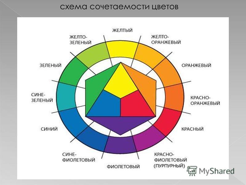 схема сочетаемости цветов
