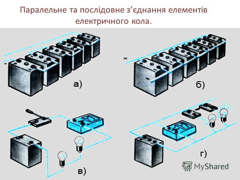 Паралельне та послідовне зєднання елементів електричного кола.