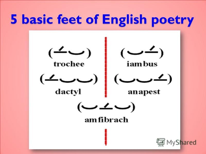 5 basic feet of English poetry
