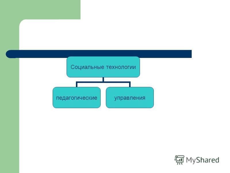Социальные технологии педагогические управления