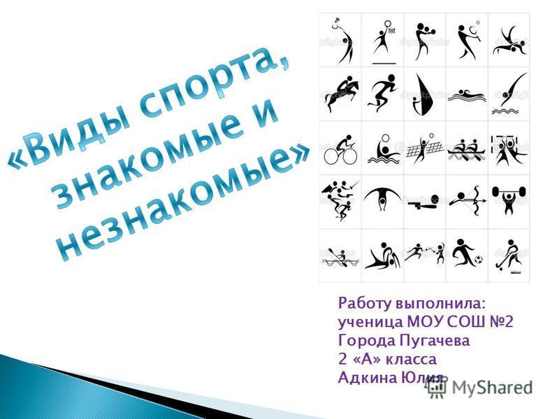Работу выполнила: ученица МОУ СОШ 2 Города Пугачева 2 «А» класса Адкина Юлия