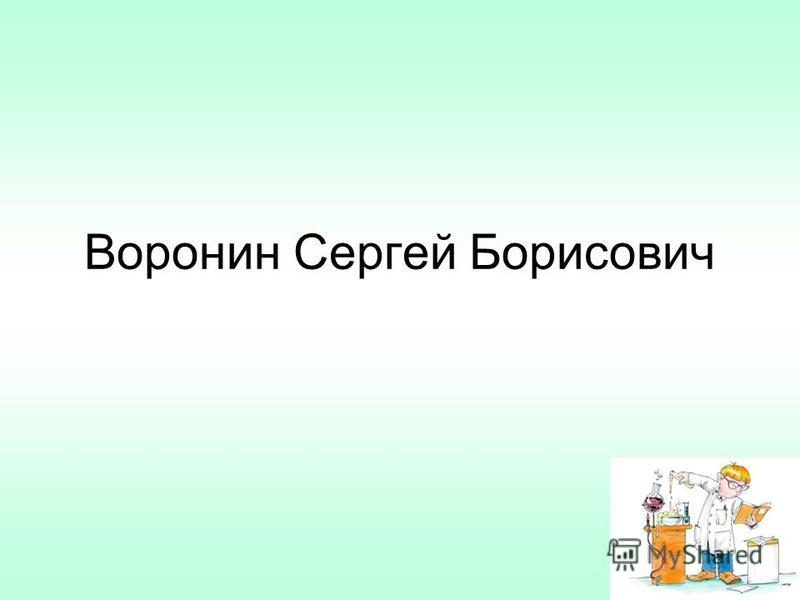 Воронин Сергей Борисович