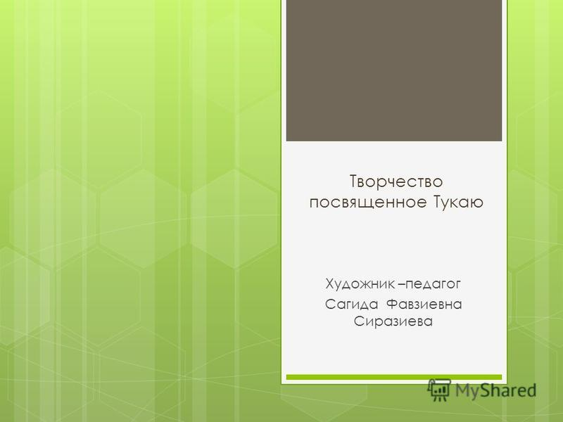 Творчество посвященное Тукаю Художник –педагог Сагида Фавзиевна Сиразиева