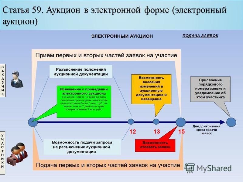 Статья 59. Аукцион в электронной форме (электронный аукцион)