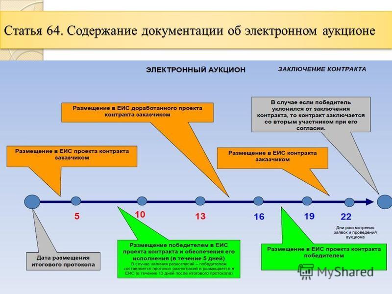 Статья 64. Содержание документации об электронном аукционе