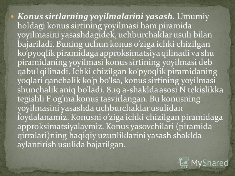 karonkal yasash usull