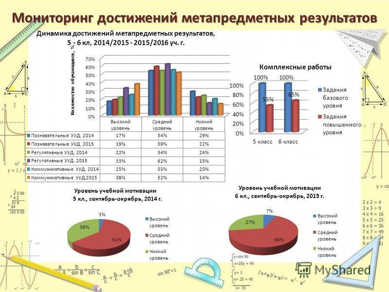 Мониторинг достижений метапредметных результатов