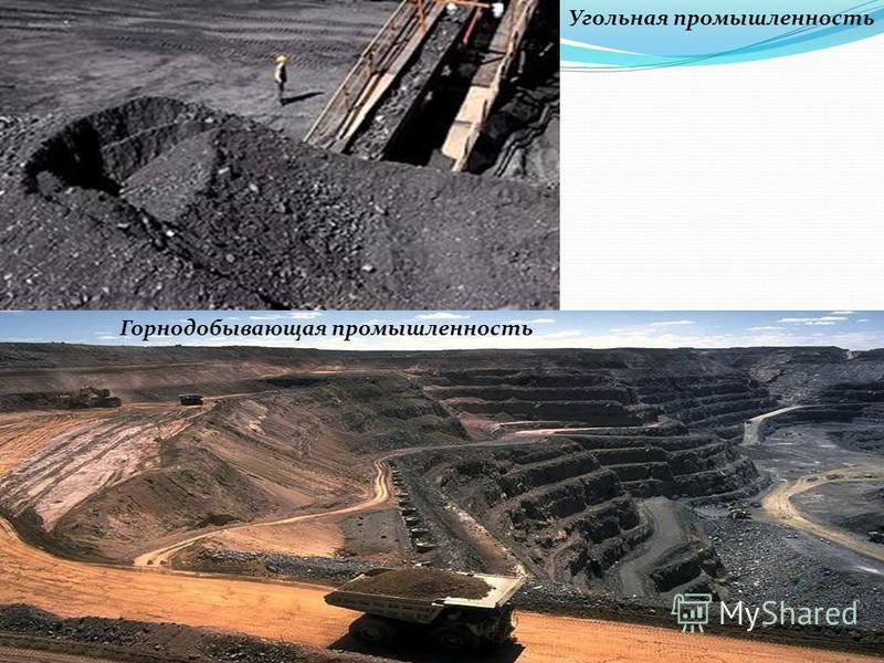 Угольная промышленность Горнодобывающая промышленность