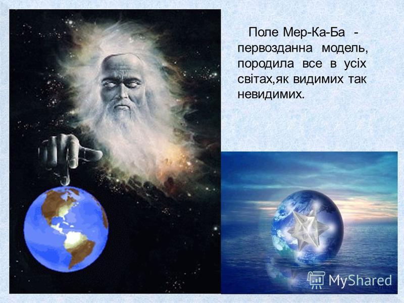 Поле Мер-Ка-Ба - первозданна модель, породила все в усіх світах,як видимих так невидимих.