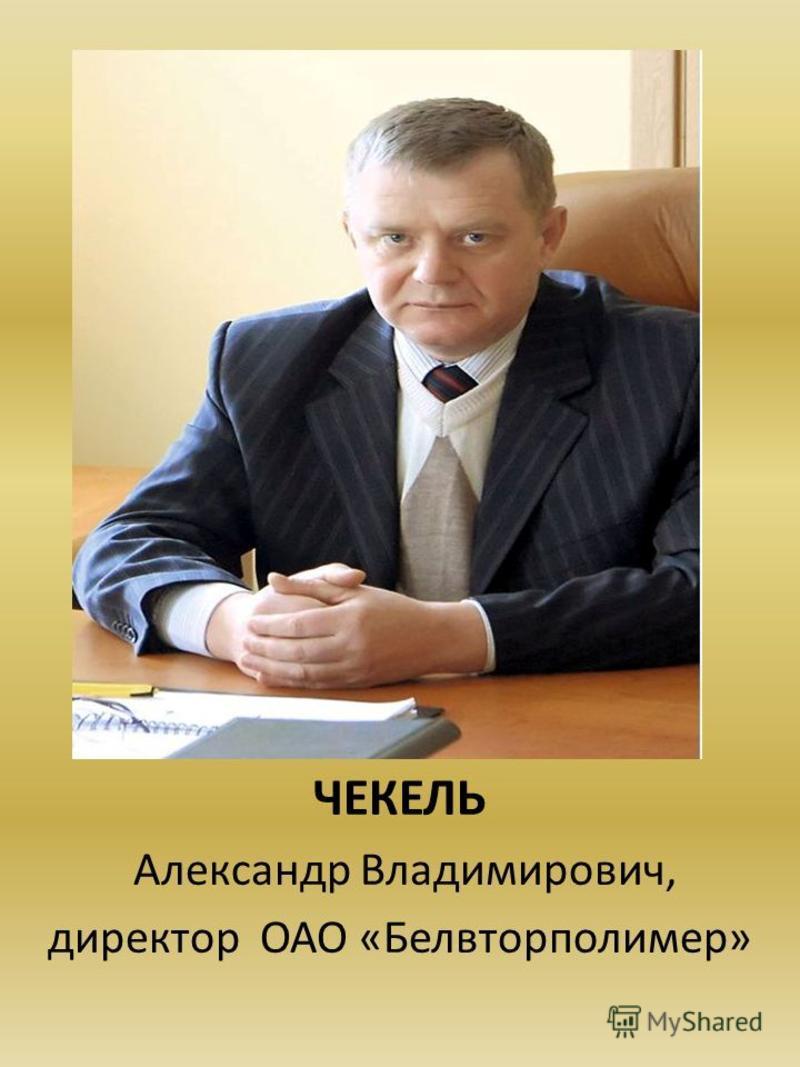 ЧЕКЕЛЬ Александр Владимирович, директор ОАО «Белвторполимер»