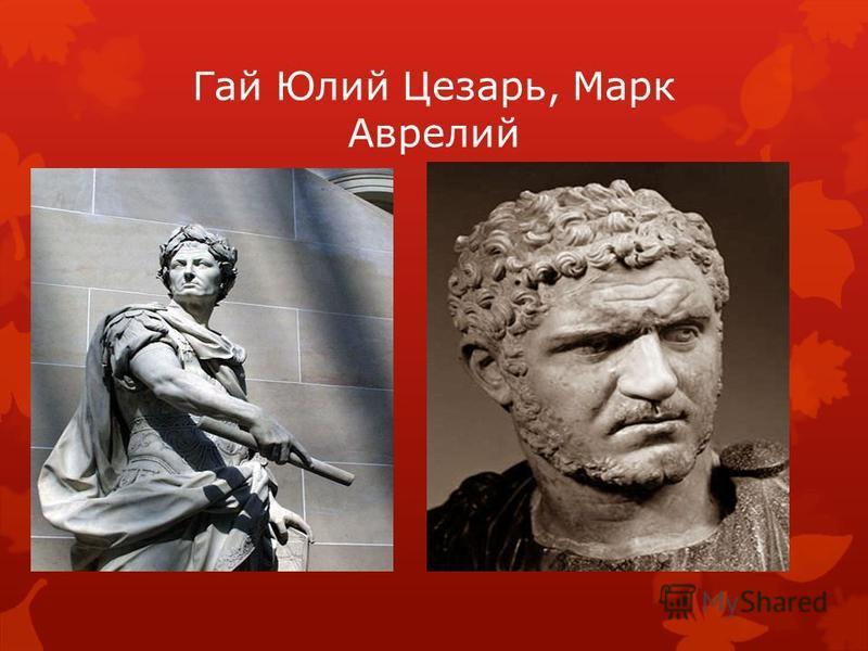 Гай Юлий Цезарь, Марк Аврелий