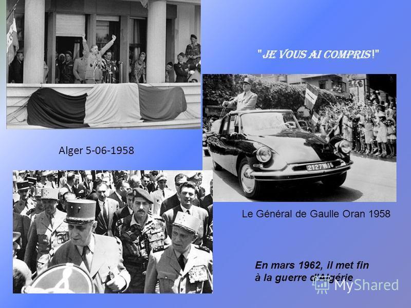 Prenez invariablement la position la plus élevée, cest généralement la moins encombrée. Ch. De Gaulle De Gaulle président en 1958 reçu par Coty conférence de presse 23-10-1958 De Gaulle élu le 21-12-1958 Président de la République