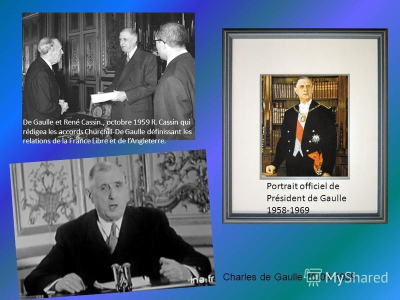 En mars 1962, il met fin à la guerre d'Algérie  Je vous ai compris ! Alger 5-06-1958 Le Général de Gaulle Oran 1958
