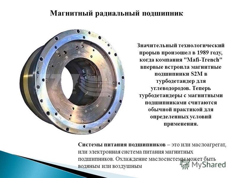 Магнитный радиальный подшипник Значительный технологический прорыв произошел в 1989 году, когда компания