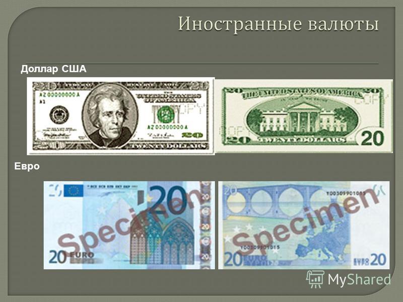 Доллар США Евро