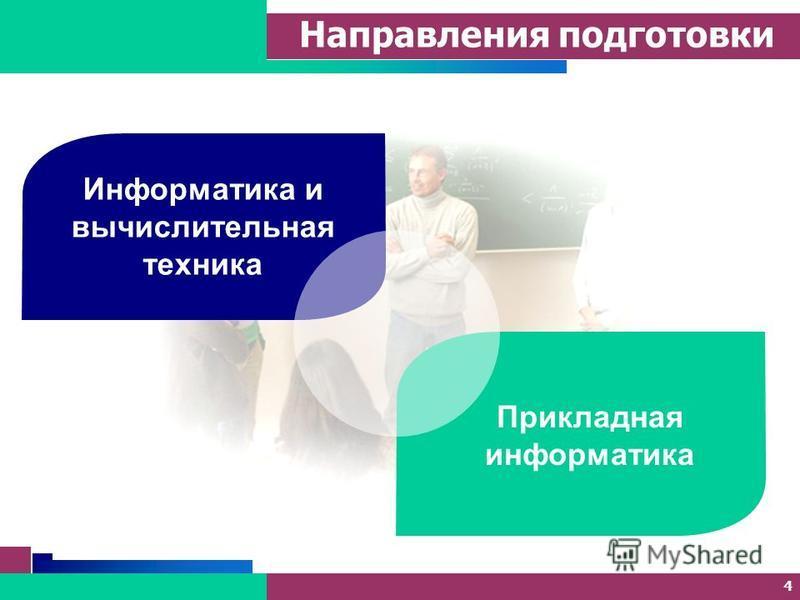 4 Направления подготовки Информатика и вычислительная техника Прикладная информатика