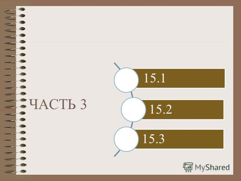 ЧАСТЬ 3 15.1 15.2 15.3