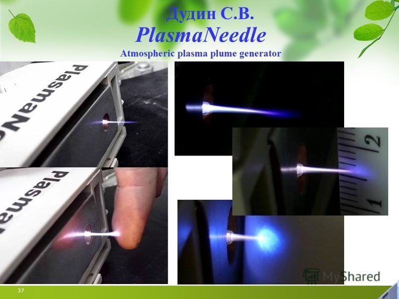 37 Дудин С.В. PlasmaNeedle Atmospheric plasma plume generator