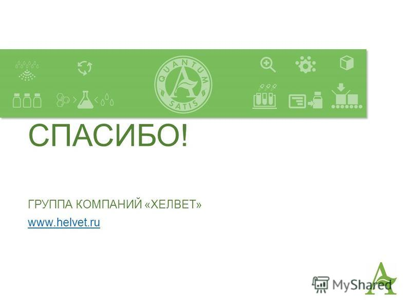 СПАСИБО! ГРУППА КОМПАНИЙ «ХЕЛВЕТ» www.helvet.ru