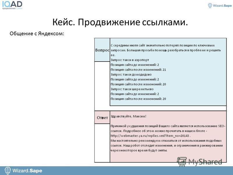 Общение с Яндексом: