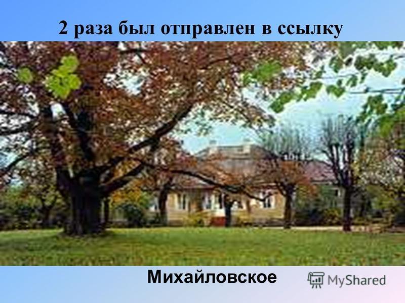 2 раза был отправлен в ссылку Михайловское