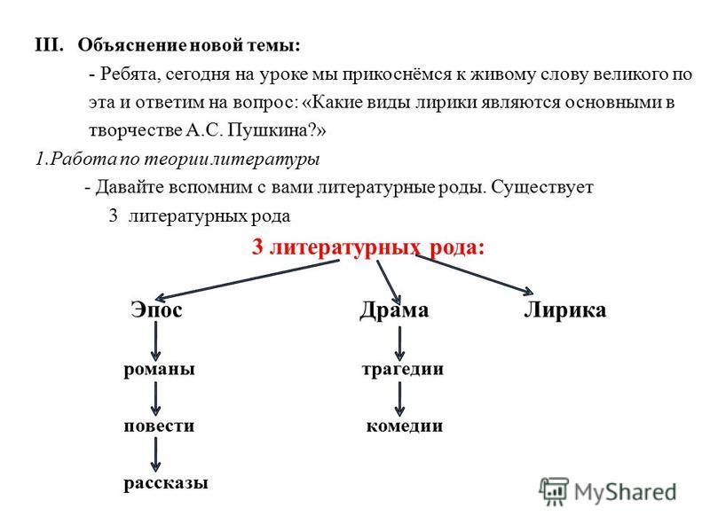знакомство с поэтом на уроке литературе пушкин