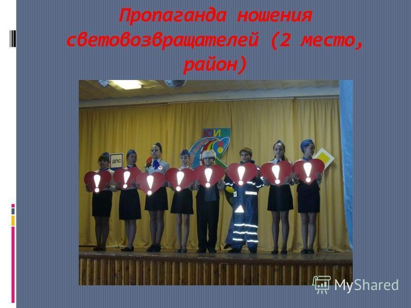 Пропаганда ношения световозвращателей (2 место, район)