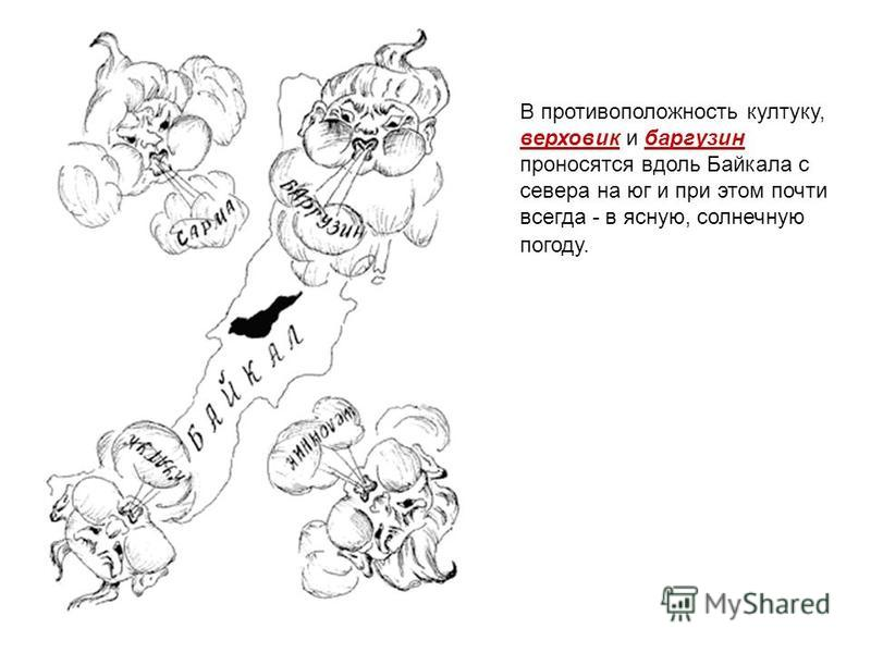 В противоположность култуку, верховик и баргузин проносятся вдоль Байкала с севера на юг и при этом почти всегда - в ясную, солнечную погоду.