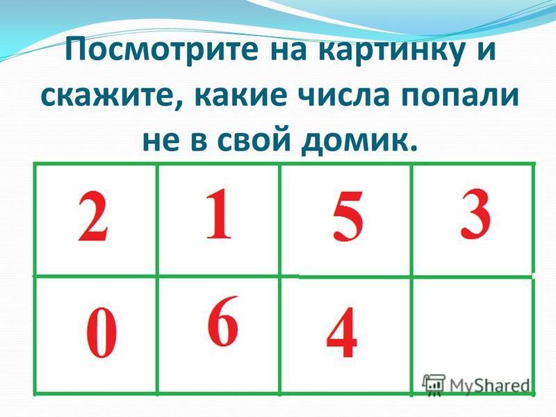 Посмотрите на картинку и скажите, какие числа попали не в свой домик.