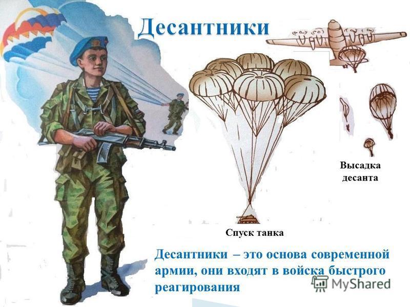 Десантники – это основа современной армии, они входят в войска быстрого реагирования Спуск танка Высадка десанта