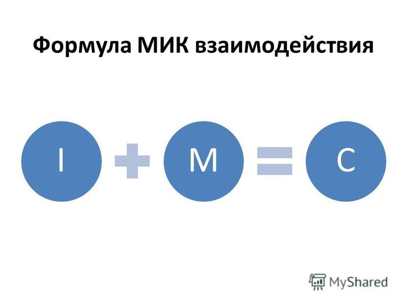 Формула МИК взаимодействия IMC