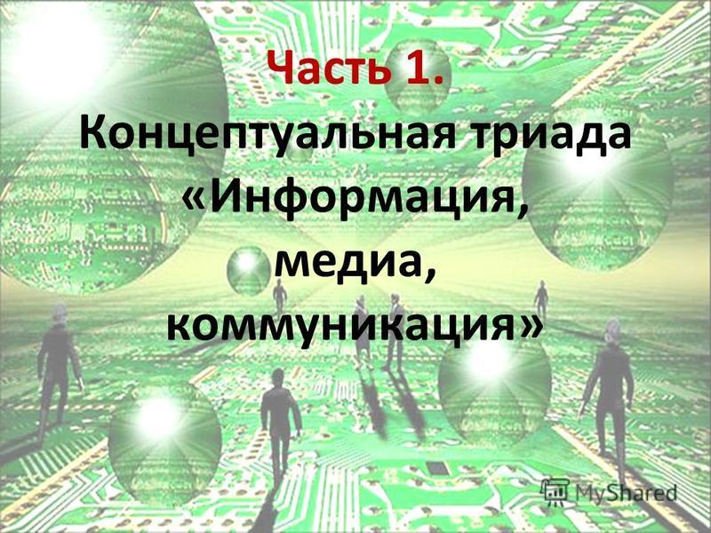 Часть 1. Концептуальная триада «Информация, медиа, коммуникация»