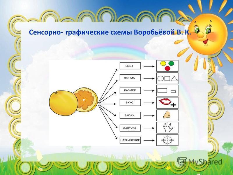Сенсорно- графические схемы Воробьёвой В. К.