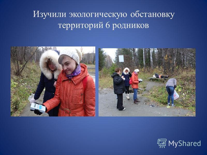 Изучили экологическую обстановку территорий 6 родников