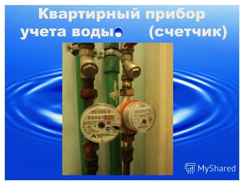 Квартирный прибор учета воды (счетчик)