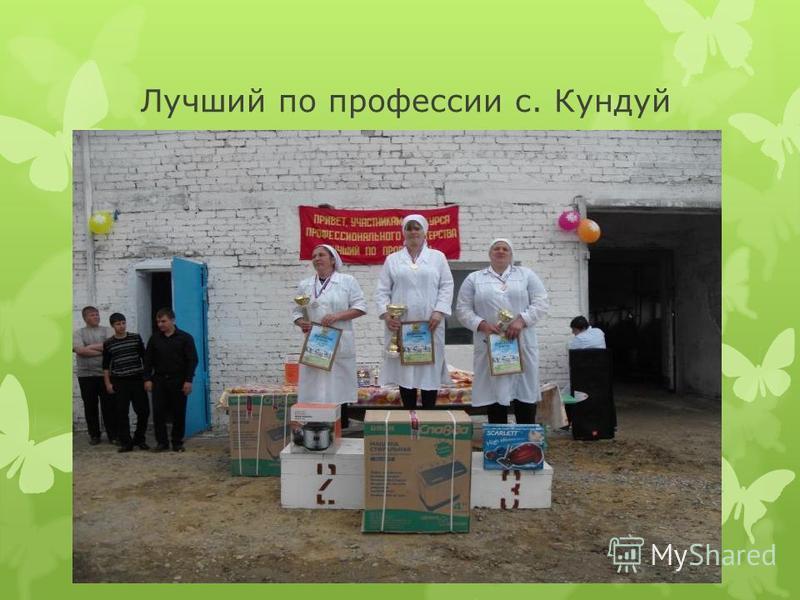 Лучший по профессии с. Кундуй