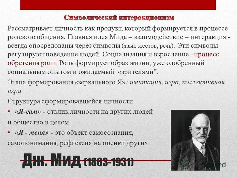 Дж. Мид (1863-1931)