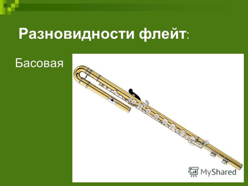 Разновидности флейт : Басовая