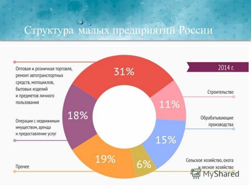 Структура малых предприятий России