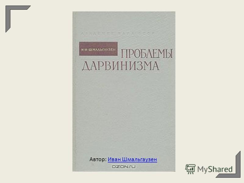 Автор: Иван Шмальгаузен Иван Шмальгаузен