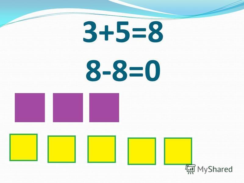 3+5=8 8-8=0