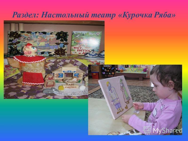 Раздел: Настольный театр «Курочка Ряба»