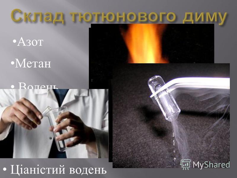 Ціаністий водень Азот Метан Водень Аргон