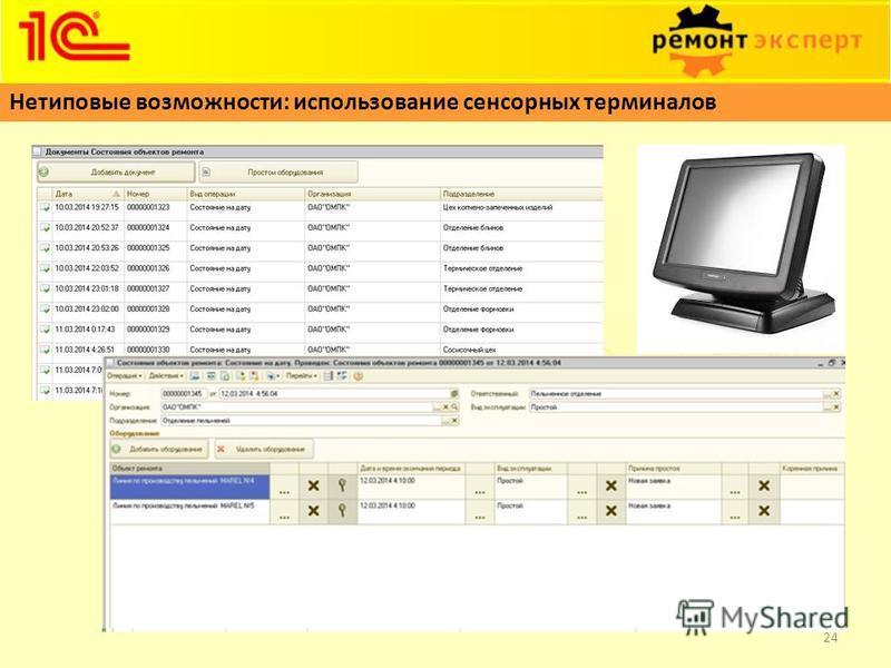 Нетиповые возможности: использование сенсорных терминалов 24