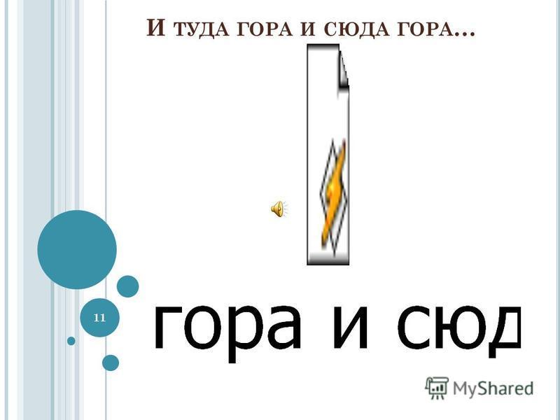 И ТУДА ГОРА И СЮДА ГОРА … 11
